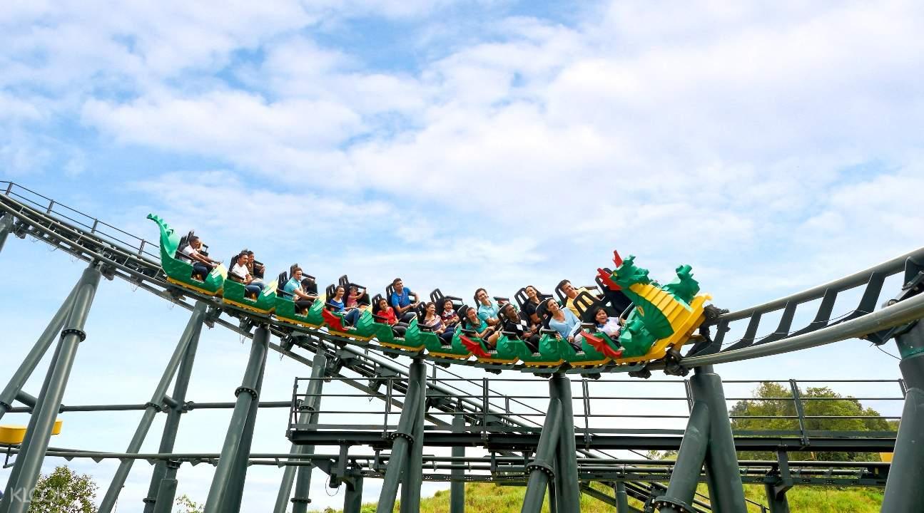 a rollercoaster in LEGOLAND® Malaysia